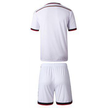 Men'S Football Jerseys T-Shirt and Shorts - WHITE L