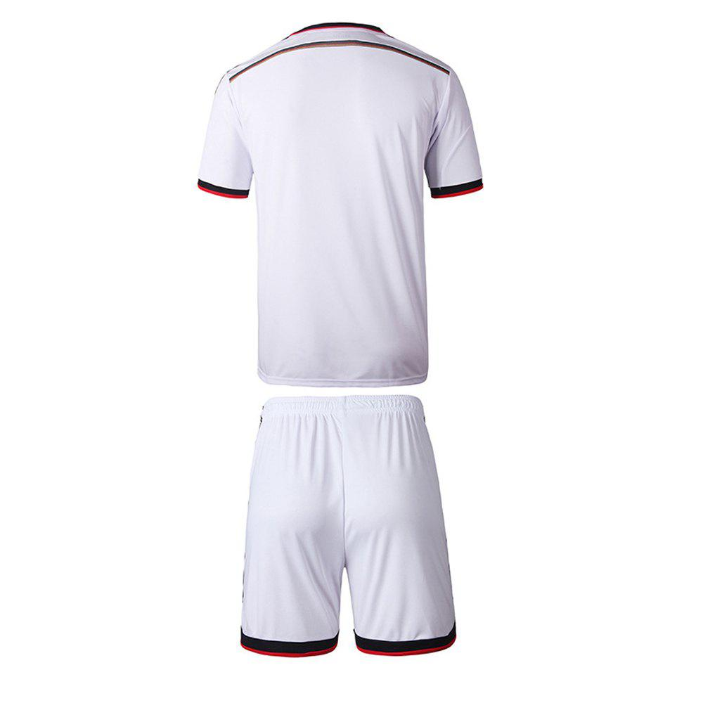 Men'S Football Jerseys T-Shirt and Shorts - WHITE S