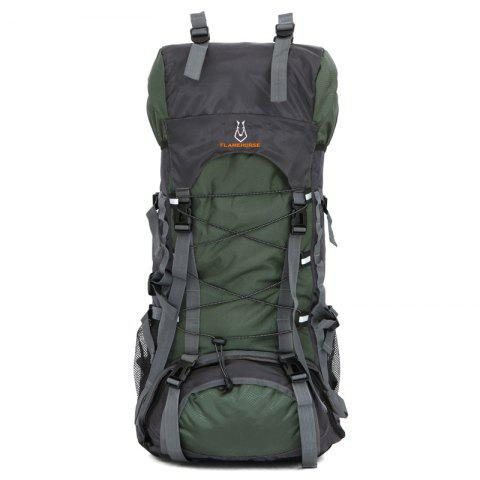 Outdoor Travelling Sporting 60L Large Space Camping Backpack - ARMYGREEN
