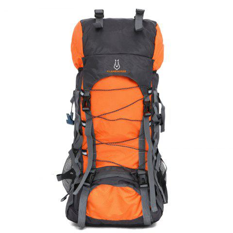 Outdoor Travelling Sporting 60L Large Space Camping Backpack - ORANGE YELLOW