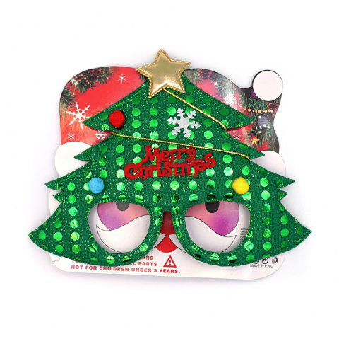 12Pcs Christmas Decoration Plastic Children Gift Festival Supply Glasses New Year Present - GREEN