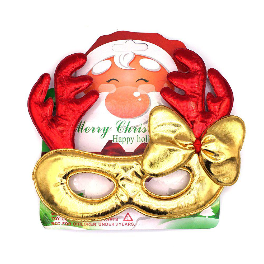 12Pcs Christmas Decoration Plastic Children Gift Festival Supply Glasses New Year Present - GOLDEN
