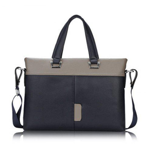 Men's Briefcase Fashion HandbagComputer Bag HandbagTide15099 Cross Section - BLUE 38.5CM28CM9CM