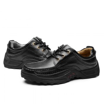 Male Leather Shoes Anti-Skid for Business / Outdoor - BLACK 43