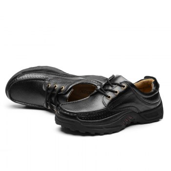Male Leather Shoes Anti-Skid for Business / Outdoor - BLACK 44