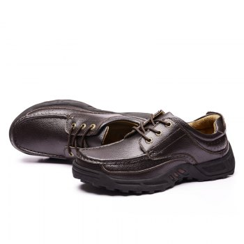 Male Leather Shoes Anti-Skid for Business / Outdoor - BROWN 45