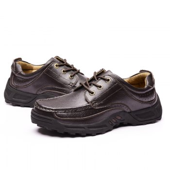 Male Leather Shoes Anti-Skid for Business / Outdoor - BROWN 38