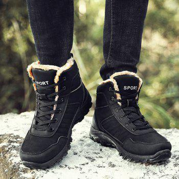 Men Warm Outdoor Warm Shoes Sport Hiking Anti-Skid Tourism Sneakers - BLACK 43