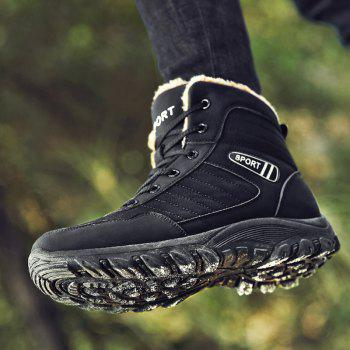 Men Warm Outdoor Warm Shoes Sport Hiking Anti-Skid Tourism Sneakers - BLACK 42