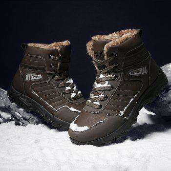 Men Warm Outdoor Warm Shoes Sport Hiking Anti-Skid Tourism Sneakers - BROWN 43