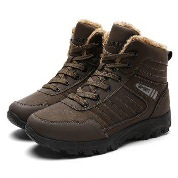 Men Warm Outdoor Warm Shoes Sport Hiking Anti-Skid Tourism Sneakers - BROWN 39