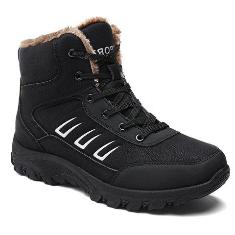 Men Warm Outdoor Shoes Sport Hiking Anti-Skid Tourism Rock Climbing Sneakers - BLACK 40