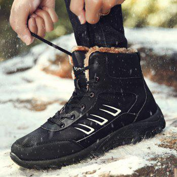 Men Warm Outdoor Shoes Sport Hiking Anti-Skid Tourism Rock Climbing Sneakers - BLACK 39