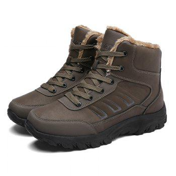 Men Warm Outdoor Shoes Sport Hiking Anti-Skid Tourism Rock Climbing Sneakers - BROWN 45