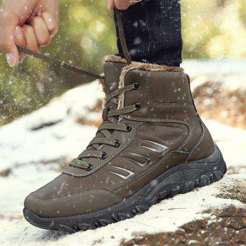 Men Warm Outdoor Shoes Sport Hiking Anti-Skid Tourism Rock Climbing Sneakers - BROWN 42