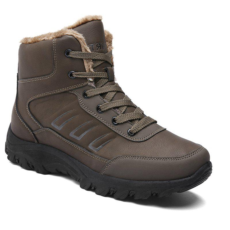 Men Warm Outdoor Shoes Sport Hiking Anti-Skid Tourism Rock Climbing Sneakers - BROWN 41
