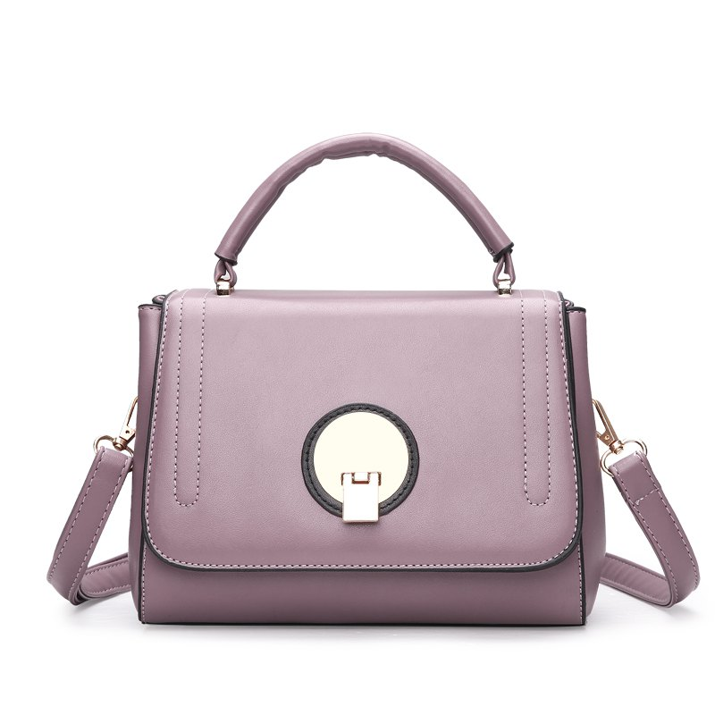 Fashion Litchi Grain Lock with Bag - PINK