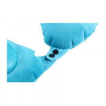 Travel Pillow Self Inflatable Ultralight,Compressible,Comfortable,Fold-Able - BLUE