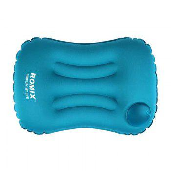 Inflatable Folding Waist Pillow Protect Back and Waist - BLUE BLUE