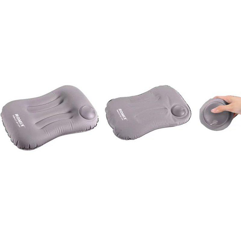 Inflatable Folding Waist Pillow Protect Back and Waist - GRAY