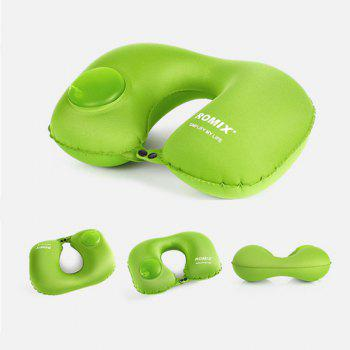 Travel Pillow Self Inflatable Ultralight Compressible Fold-Able Compact Pillow for Head - GREEN GREEN