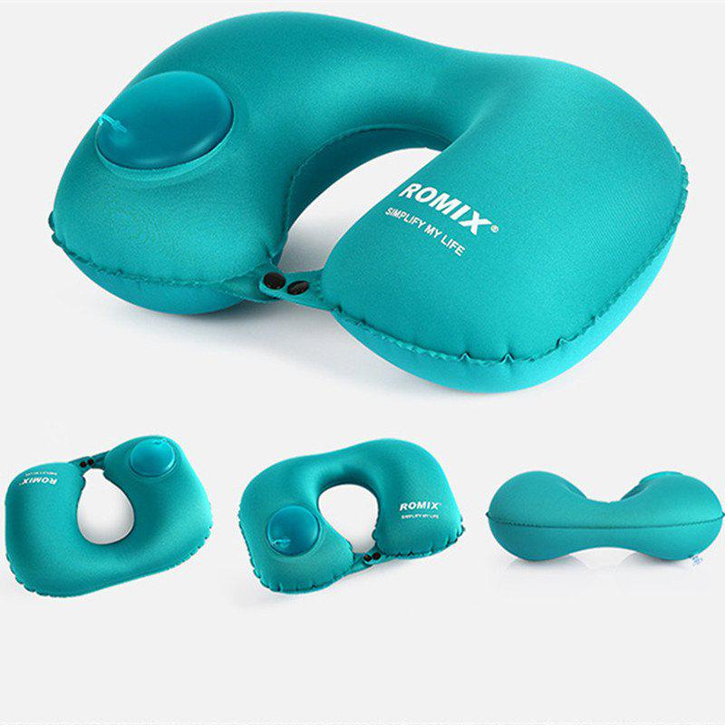 Travel Pillow Self Inflatable Ultralight Compressible Fold-Able Compact Pillow for Head - BLUE