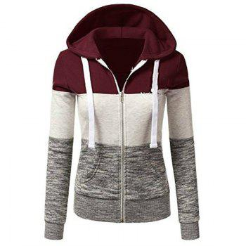 Fashion Colorful Hooded Drawstring Hoodie