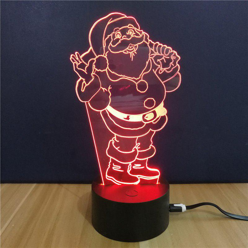 Christmas Gift Advertising Promotion LED Touches The Color-Changing 3D Lamp USB Creative Nightlight  Santa Claus inflatable cartoon customized advertising giant christmas inflatable santa claus for christmas outdoor decoration