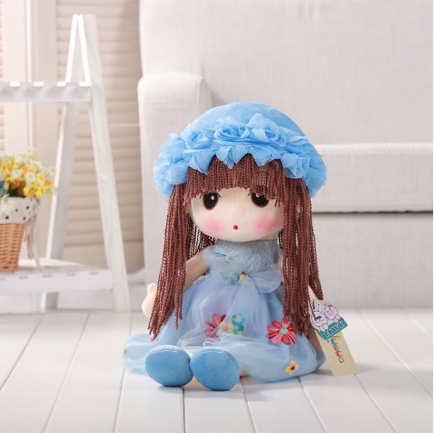 35CM Cute Braid Fairy Toy Doll - LIGHT BLUE