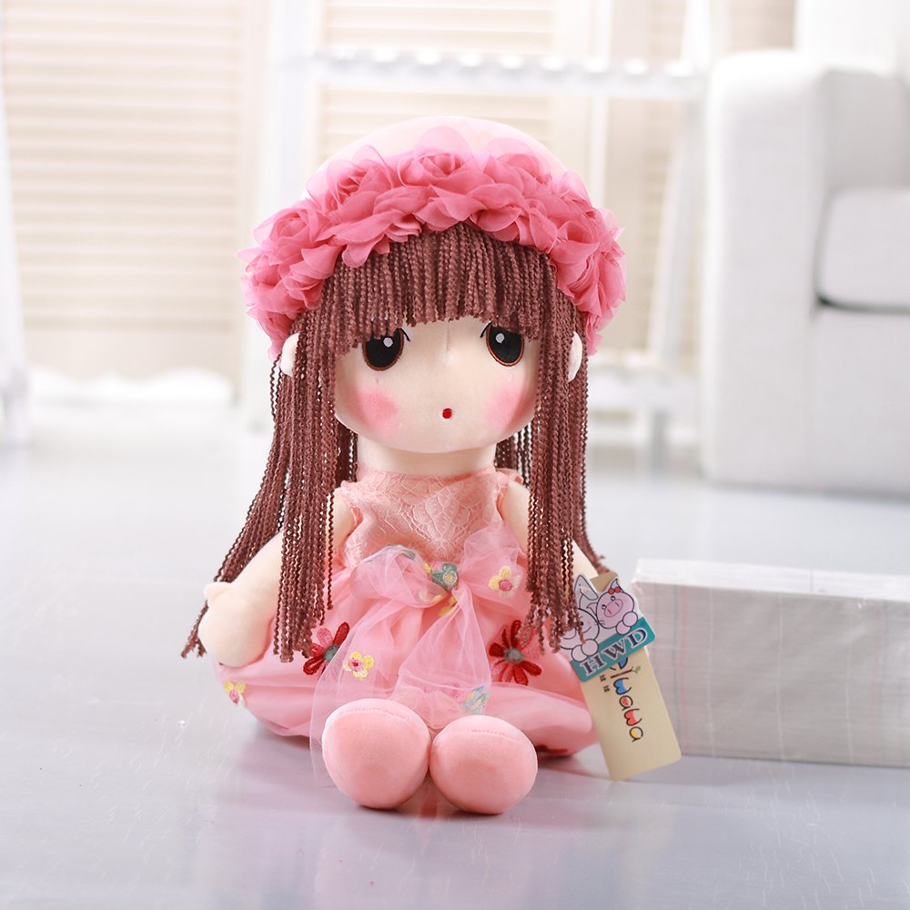 35CM Cute Braid Fairy Toy Doll - PINK