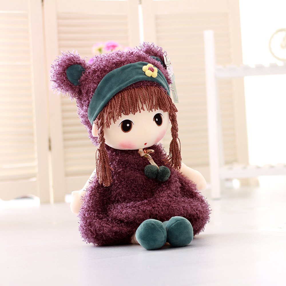 40CM Cute Pigtail Braids Cartoon Plush Toys - PURPLE