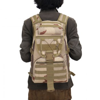 FLAMEHORSE 3P Tactical Camouflage Bag Attack Mountaineer Versatile Backpack - THREE SAND CAMOUFLAGE