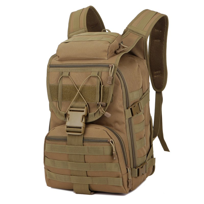 FLAMEHORSE 3P Tactical Camouflage Bag Attack Mountaineer Versatile Backpack - KHAKI