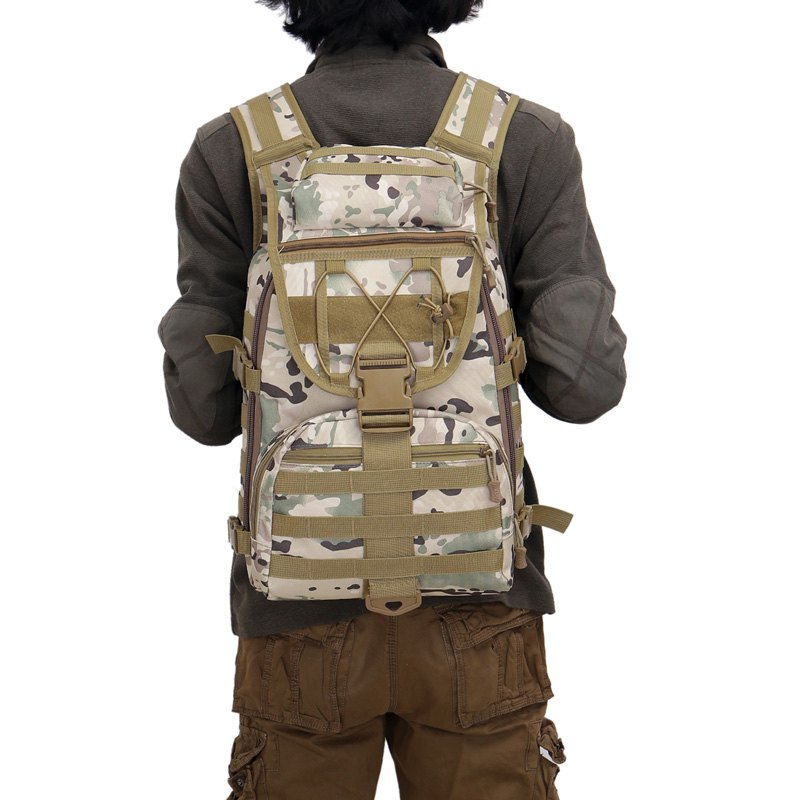 FLAMEHORSE 3P Tactical Camouflage Bag Attack Mountaineer Versatile Backpack - CP CAMOUFLAGE
