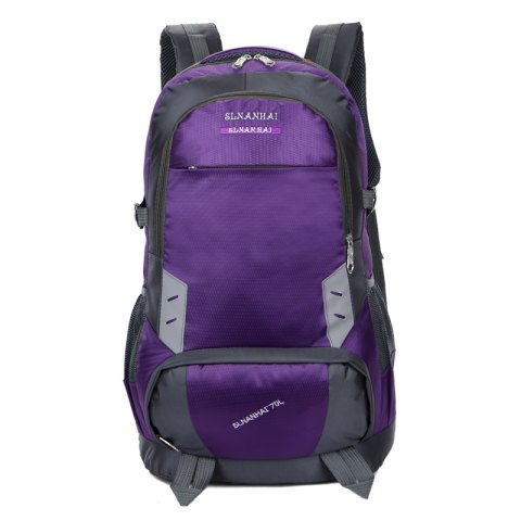 55L Largecapacity Outdoor Mountaineer Bag Hiking backpacks - PURPLE