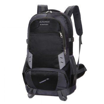 55L Largecapacity Outdoor Mountaineer Bag Hiking backpacks - BLACK