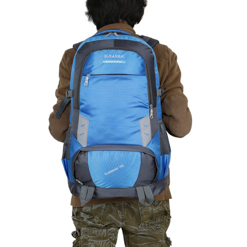 55L Largecapacity Outdoor Mountaineer Bag Hiking backpacks - BLUE