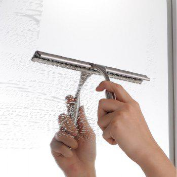 High Quality Stainless Steel Shower Cleaning Squeegee Window Glass Cleaner with a hook - SILVER SILVER
