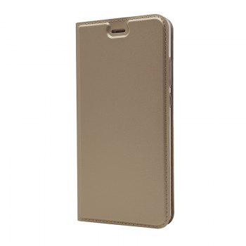 Pure Color Magnetic Pull in Leather Case Cover for Huawei P10 - GOLDEN