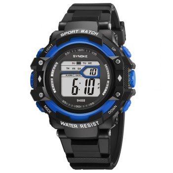 SYNOKE 9488 Student Fashion Sports Multi-Function Electronic Watch -  BLUE