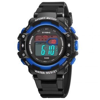 SYNOKE 9488 Student Fashion Sports Multi-Function Electronic Watch - BLUE BLUE