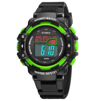 SYNOKE 9488 Student Fashion Sports Multi-Function Electronic Watch - GREEN GREEN
