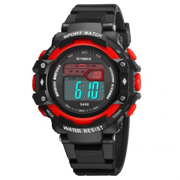SYNOKE 9488 Student Fashion Sports Multi-Function Electronic Watch - RED RED