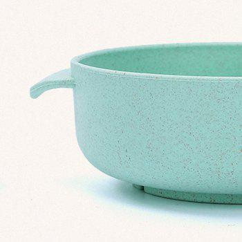 Children Bowl and Spoon Environmental Protection Material of Wheat Straw - GREEN