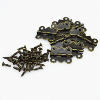 15PCS Zinc Metal Alloy Special Design Cabinet Door Hinge 4 Holes Butterfly Design - BRONZE BRONZE