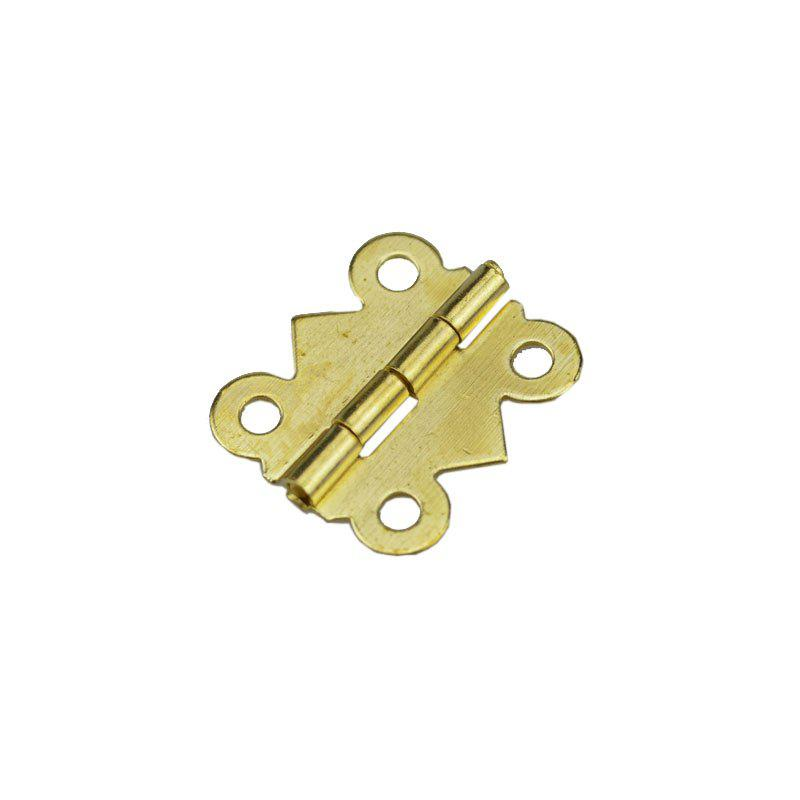 15PCS Vintage Brass Color Iron Mini Butterfly Butt Hinges Cabinet Drawer Jewelry Box DIY Repair - GOLDEN 20MM X 17MM