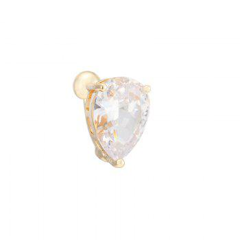 KUNIU Simple Heart Shaped Zircon Navel Ring