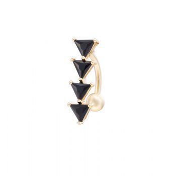 KUNIU Simple Inverted Triangle CZ Navel Ring