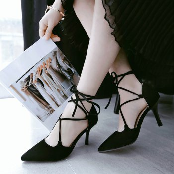 Miss Shoes 88-11 Spigot and Sweet Lace-Up Shoes - BLACK 32
