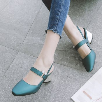 Shoe Miss 519 Square Head and Fashion Casual Shoes - GREEN 32